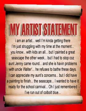 Sample Artist Statement